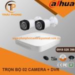Trọn bộ 2 camera DAHUA 1.0MP CVI cho Gia đình,Cty,Văn phòng,Shop...