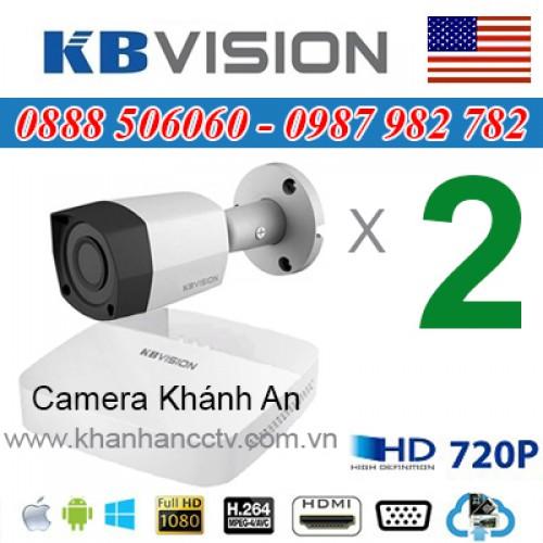 Trọn bộ 2 camera KBVISION 1.0MP CVI cho Gia đình,Cty,Văn phòng,Shop..., đại lý, phân phối,mua bán, lắp đặt giá rẻ