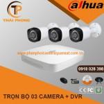 Trọn bộ 3 camera DAHUA 1.0MP CVI cho Xưởng,Nhà Máy,Cty,Văn phòng,Shop...