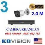 Trọn bộ 3 camera KBVISION 2.0MP CVI cho Gia đình,Cty,Văn phòng,Shop...