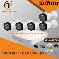 Trọn bộ 5 camera DAHUA 2.0MP CVI cho Xưởng,Nhà Máy,Cty,Văn phòng,Shop...