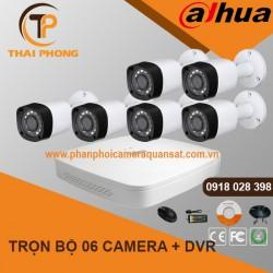 Trọn bộ 6 camera DAHUA 2.0MP CVI cho Xưởng,Nhà Máy,Cty,Văn phòng,Shop...