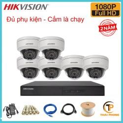 Bộ trọn gói  6 camera HIKVISION giá rẻ 2.0 MP
