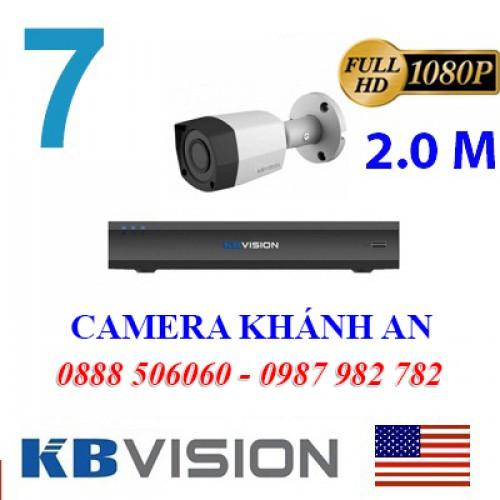 Trọn bộ 7 camera KBVISION 2.0MP CVI cho Gia đình,Cty,Văn phòng,Shop..., đại lý, phân phối,mua bán, lắp đặt giá rẻ