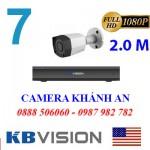 Trọn bộ 7 camera KBVISION 2.0MP CVI cho Xưởng,Nhà Máy,Cty,Văn phòng,Shop...