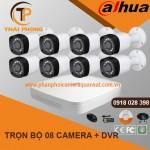 Trọn bộ 8 camera DAHUA 1.0MP CVI cho Gia đình,Cty,Văn phòng,Shop...