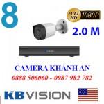 Trọn bộ 8 camera KBVISION 2.0MP CVI cho Gia đình,Cty,Văn phòng,Shop...