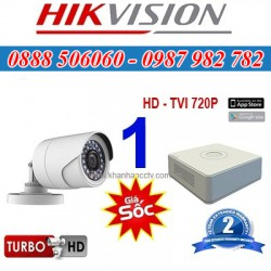 Trọn bộ 1 camera HIKVISION 1.0MP TVI cho Gia đình,Cty,Văn phòng,Shop...