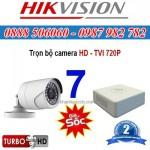 Trọn bộ 7 camera HIKVISION 1.0MP TVI cho Gia đình,Cty,Văn phòng,Shop...