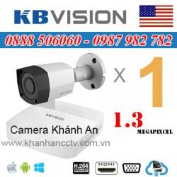 Lắp trọn gói 1 camera KBVISION 1.3 Megapixcel