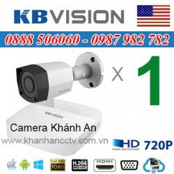 Trọn bộ 1 camera KBVISION 1.0MP CVI cho Xưởng,Nhà Máy,Cty,Văn phòng,Shop...