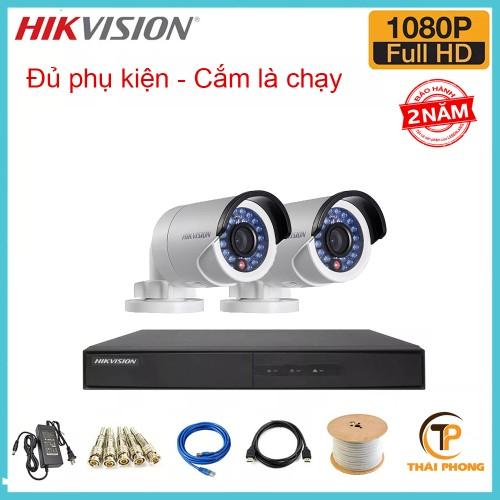 Trọn bộ 2 camera HIKVISION 2.0MP TVI cho Gia đình,Cty,Văn phòng,Shop..., đại lý, phân phối,mua bán, lắp đặt giá rẻ