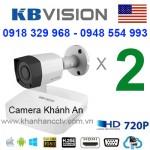 Trọn bộ 2 camera KBVISION 1.0MP CVI cho Xưởng,Nhà Máy,Cty,Văn phòng,Shop...