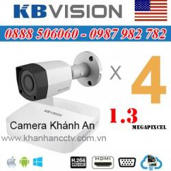 Lắp trọn gói 4 camera KBVISION 1.3 Megapixcel