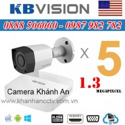 Lắp trọn gói 5 camera KBVISION 1.3 Megapixcel