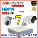 Trọn bộ 7 camera HIKVISION 2.0MP TVI cho Gia đình,Cty,Văn phòng,Shop...