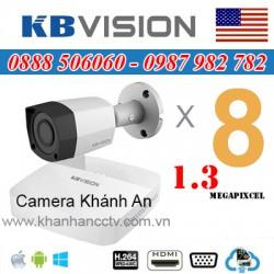 Lắp trọn gói 8 camera KBVISION 1.3 Megapixcel