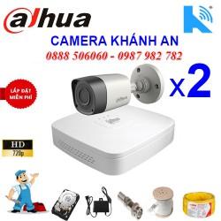 Trọn bộ 2 camera DAHUA 1.0MP TVI cho Xưởng,Nhà Máy,Cty,Văn phòng,Shop...