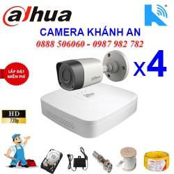 Trọn bộ 4 camera DAHUA 1.0MP CVI cho Xưởng,Nhà Máy,Cty,Văn phòng,Shop...