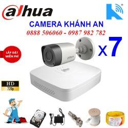Trọn bộ 7 camera DAHUA 1.0MP CVI cho Xưởng,Nhà Máy,Cty,Văn phòng,Shop...