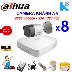 Trọn bộ 8 camera DAHUA 1.0MP CVI cho Xưởng,Nhà Máy,Cty,Văn phòng,Shop...