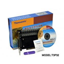 Thiết bị ghi âm 32 cổng giao tiếp cổng PCI T3P32
