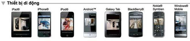 phần mềm coi xem camera qua điện thoại di động