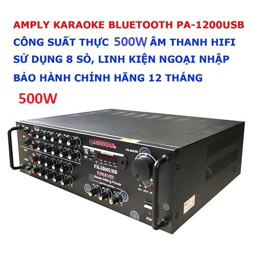 Amply tăng âm PA-1200USB 8 sò 500W, đại lý, phân phối,mua bán, lắp đặt giá rẻ