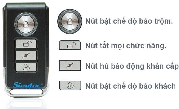 Remote dùng cho trung tâm chống trộm KM-T60