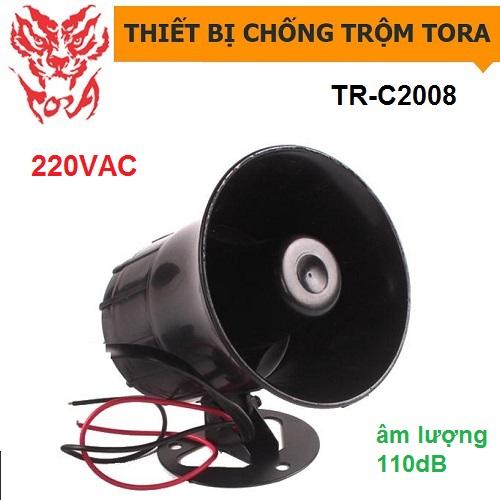 Còi hú công suất lớn TORA TR-C2008 nguồn 220V, đại lý, phân phối,mua bán, lắp đặt giá rẻ