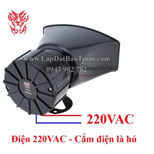 Còi hú công suất lớn 220V TORA TR-C2009 100W nguồn 220V, đại lý, phân phối,mua bán, lắp đặt giá rẻ