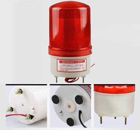 Đèn xoay cảnh báo và cứu hộ LTE-1101J có còi 220VDC