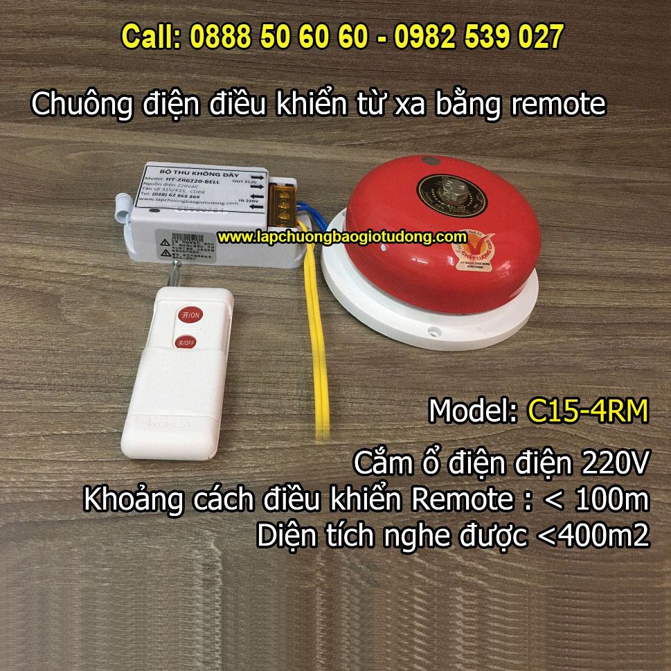 Chuông điện điều khiển tắt mở bằng remote từ xa