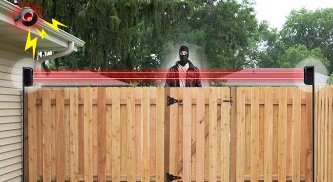 Hàng rào điện tử chống trộm bằng tia laze