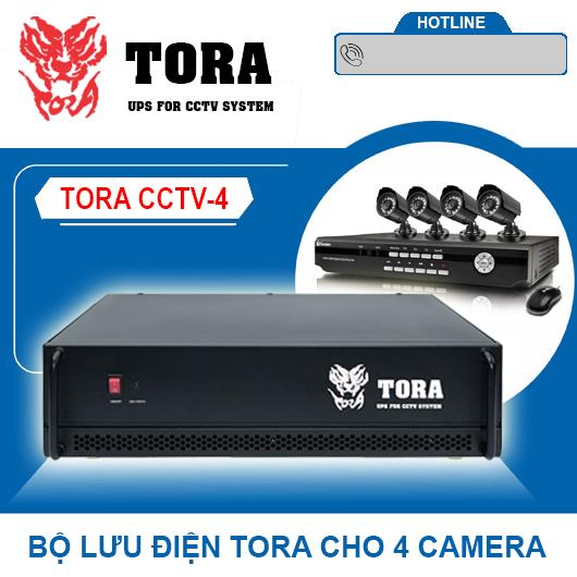 Bộ lưu điện cho 4 Camera TORA CCTV-4, đại lý, phân phối,mua bán, lắp đặt giá rẻ