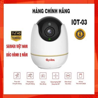 Camera Wifi chống trộm thông minh, quay quét 360 độ IOT03 Full HD, kết nối không dây 2.0 MP