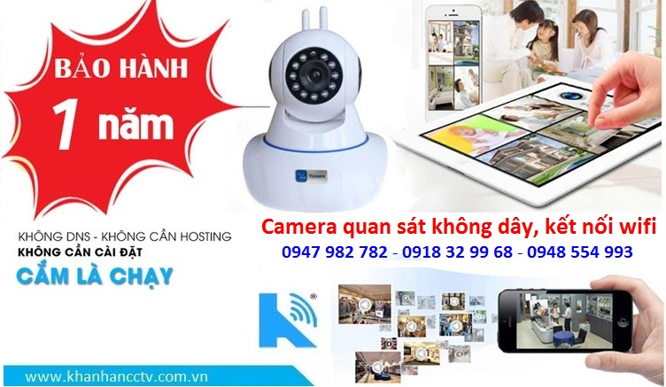Camera IP không dây và báo động qua điện thoại