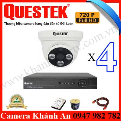 Báo giá lắp đặt trọn gói camera Questek, trọn bộ camera Questek, camera Questek