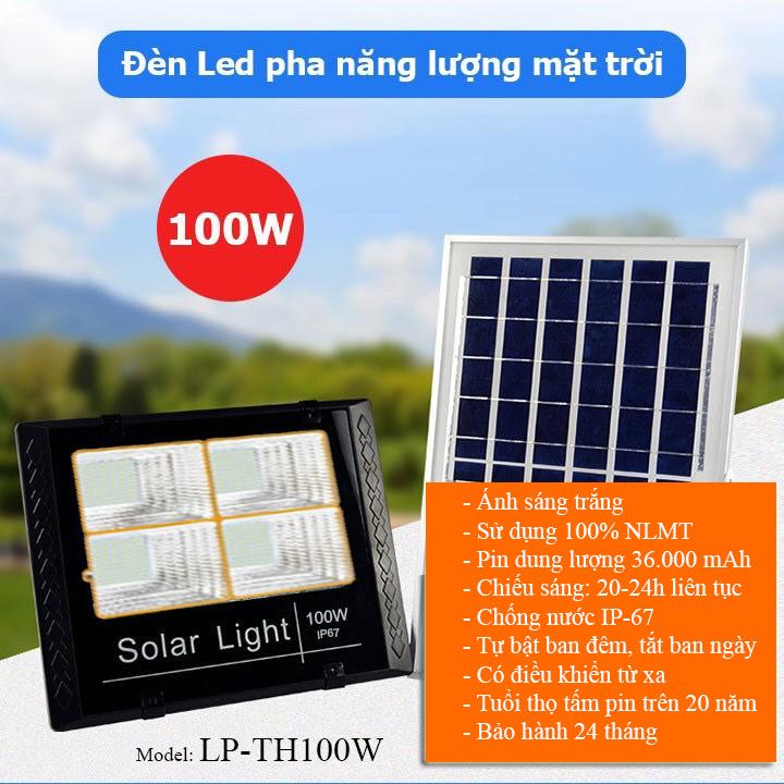 Đèn năng lượng mặt trời 100W LP-TH100, đại lý, phân phối,mua bán, lắp đặt giá rẻ