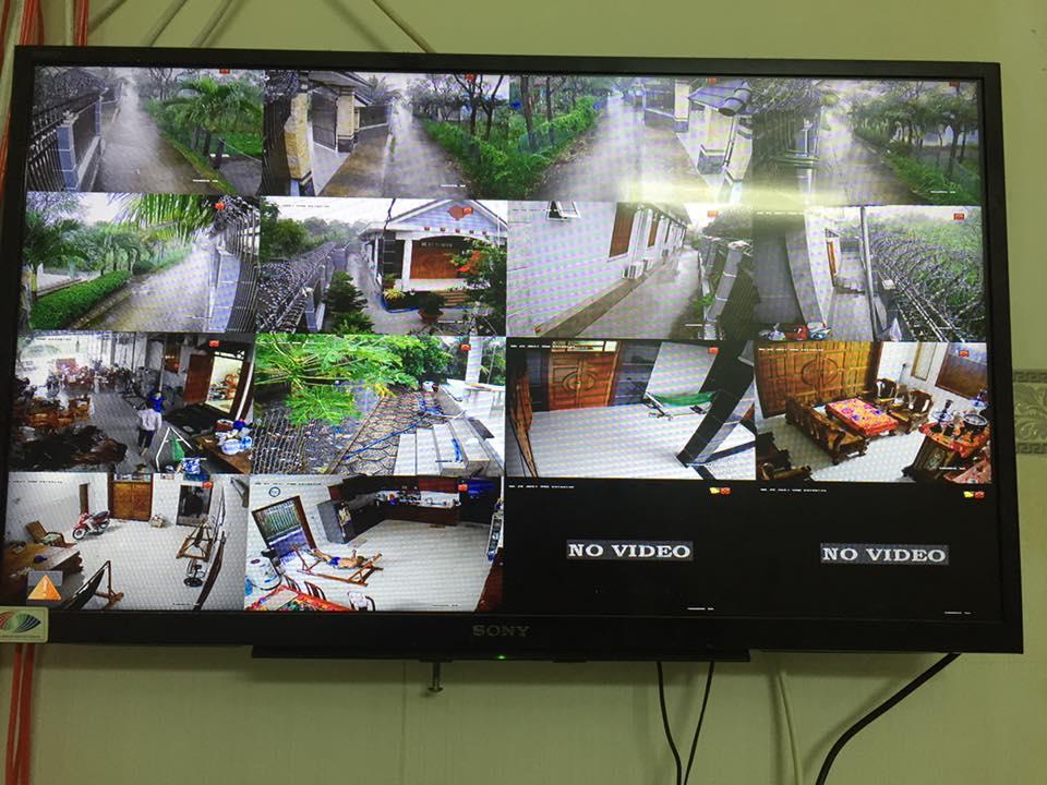 Lắp đặt camera cho biệt thự sân vườn tại Gò Công - Tiền Giang