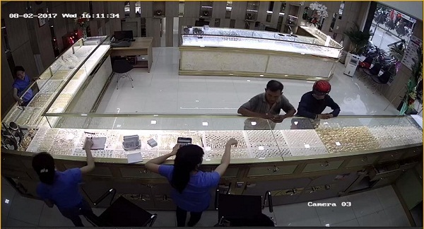 lắp đặt camera tại Long An, Lắp đặt camera cho Tiệm Vàng.