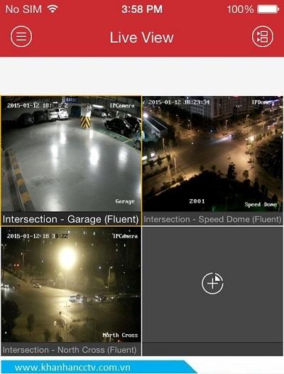 Hình ảnh camera hikvision 2.0m trên điện thoại
