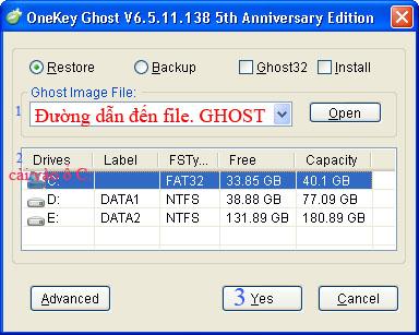 Hướng dẫn ghost lại máy tính trong môi trường windows