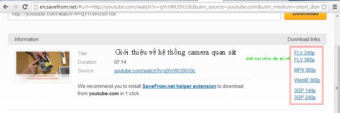 Hướng dẫn tải video trên youtube