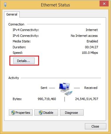 Hướng dẫn xem địa chỉ IP trong mạng và default Gateway