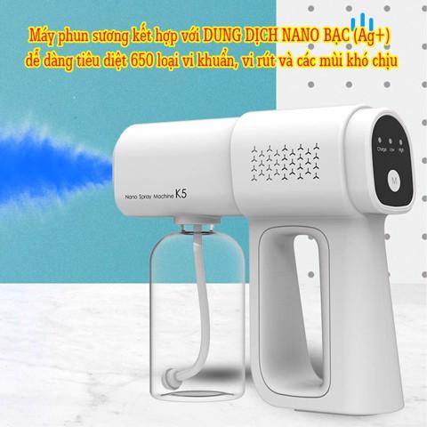 Máy phun khử trùng hay súng phun khử khuẩn cầm tay Spray Nano K5