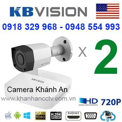 báo giá lắp đặt trọn gói bộ 2 camera KBVISION cao cấp tại tp hcm, camera mỹ, usa