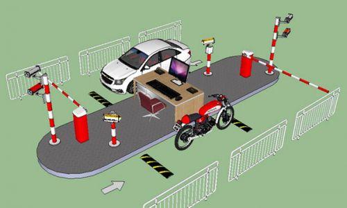 Sơ đồ mô hình hệ thống bãi giữ xe thông minh