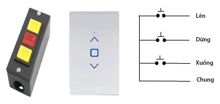 Hướng dẫn xác định và đấu dây bộ điều khiển cửa cuốn bằng điện thoại vào nút bấm âm tường