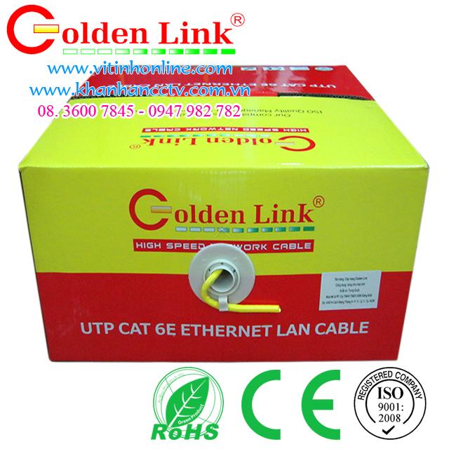 Dây cáp mạng Golden Link UTP CAT6 Vàng 2